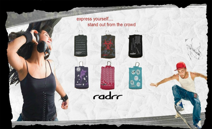 Express yourself...with radrr cases.