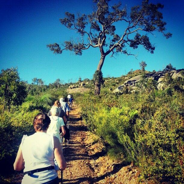 Zig zag walk #nordicwalking #outdoorfitness #heartfoundation