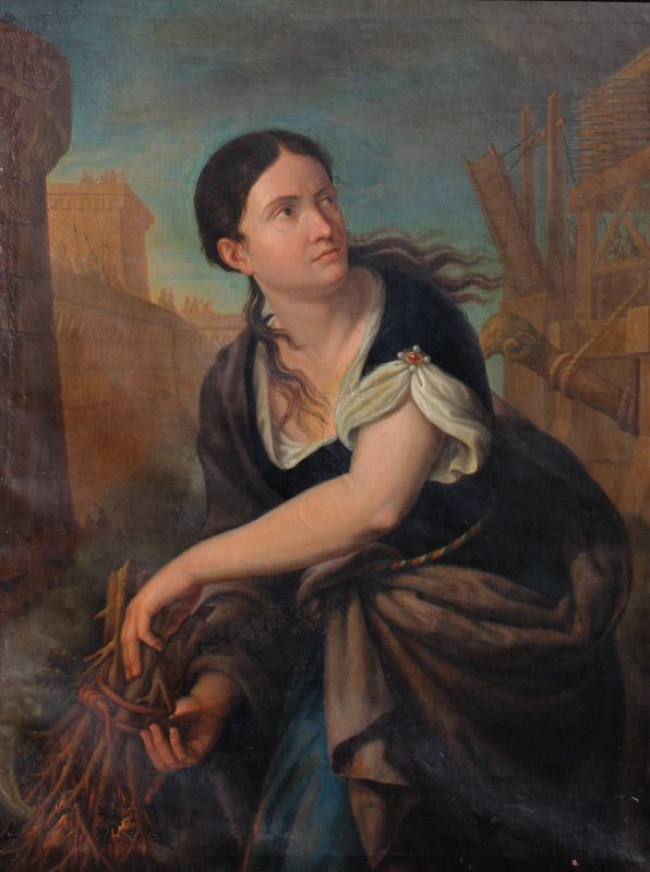 Large 17th Century Oil Painting Attributed To Famous Old