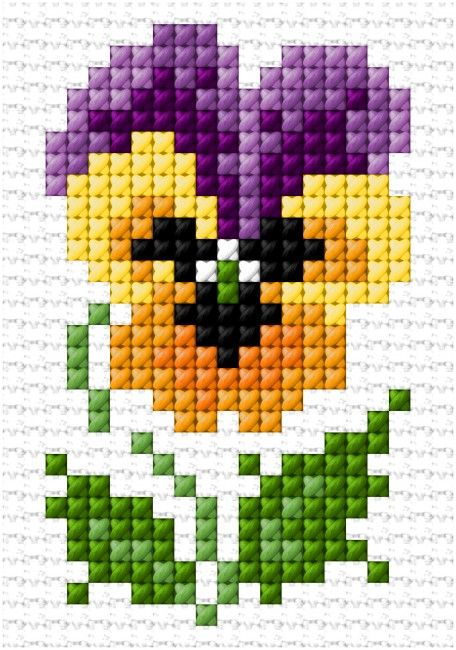 (^_^) PANSY Free chart | Lesley Teare Thoughts on Design
