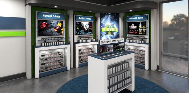 Vape Store Design Fixtures and Display Ideas Vape store