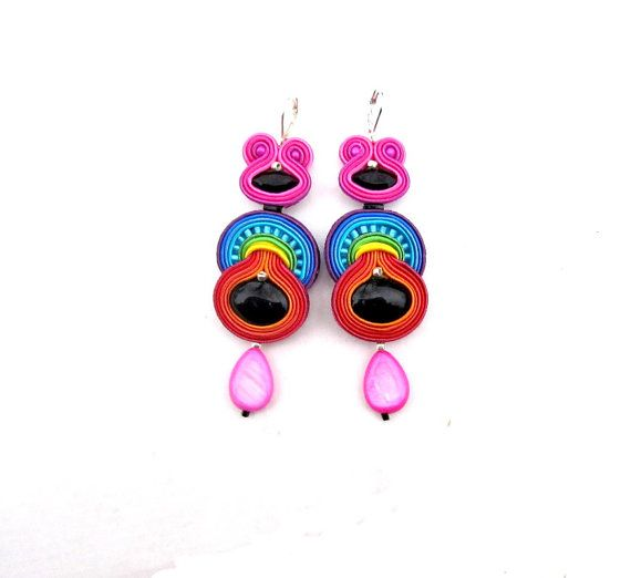 Colorful and Unique Dangle Earrings Fashion Handmade