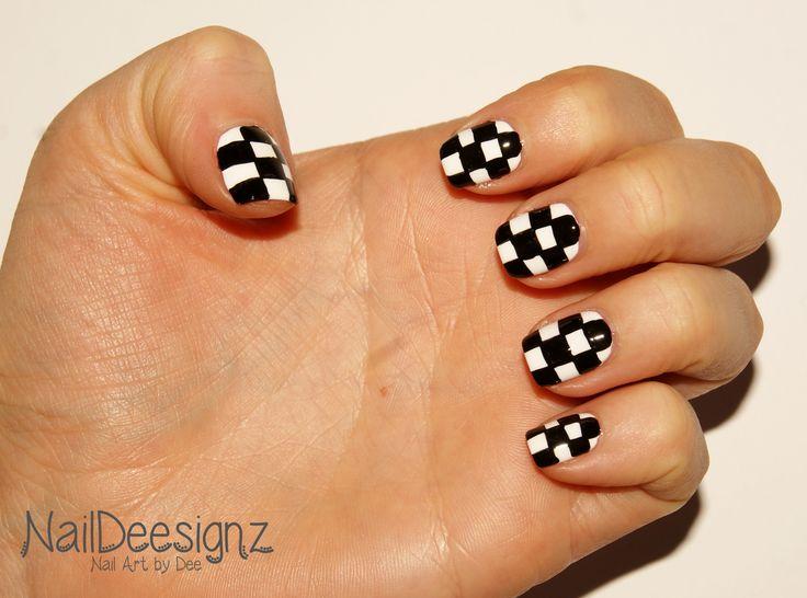 Checkered Nail Art .x.  http://naildeesignz.blogspot.co.uk/2017/03/checkered-nail-art.html