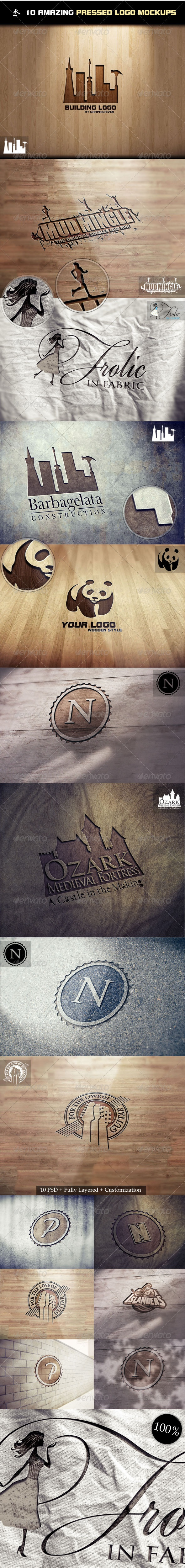 10 Amazing Pressed Logo Mock-Ups