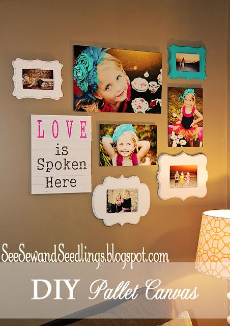 Darling collage wall #PictureGallery...cut for kids room or any wall really in your house!