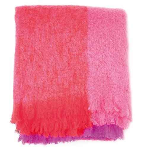 jazzberry red mohair throw by avoca