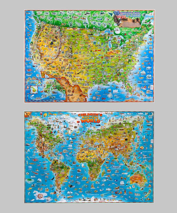 Look What I Found On Zulily Blue Ocean World Usa Wall Map Set