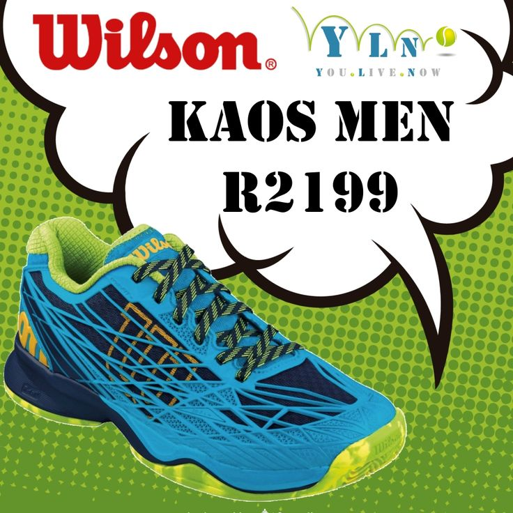BRAND NEW!!! Wilson Kaos Range Built for aggressive players looking for speed and comfort, this lightweight offering will inject energy and style back into your game.  ww.youlivenow.co.za/kaos-comp-men www.youlivenow.co.za/kaos-comp-women www.youlivenow.co.za/kaos-men-suited-for-clay-courts