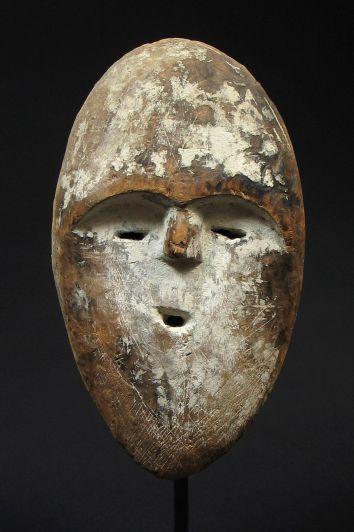 Bwiti Mask  Tsogho, Gabon  Wood, Kaolin  Early 20th century