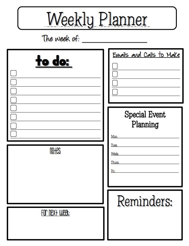 teacher diary template - free printable weekly planner templates here is the