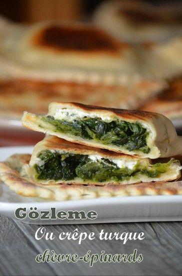 Pas beaucoup présente cette semaine sur le blog et du coup pas beaucoup de recettes. Juste un peu débordée! Non je n'étais pas partie en Turquie même si je vous présente aujourd'hui une recette de crêpes turques salées et délicieuses. Ces gözlemes sont...