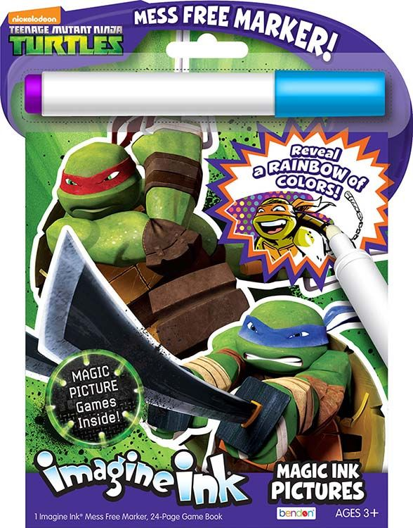 teenage mutant ninja turtles magic ink activity book includes a mess free imagine ink marker to color your favorite ninja turtles characters - Imagine Ink Coloring Book