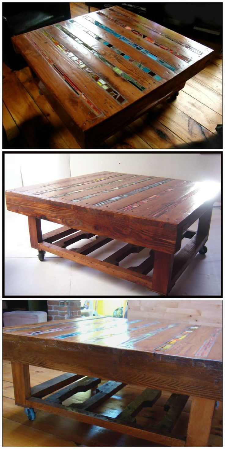 Coffee table of wooden pallets recycled ideas wooden for Pallet coffee table ideas