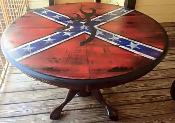 Confederate flag and Browning symbol table.#rebel