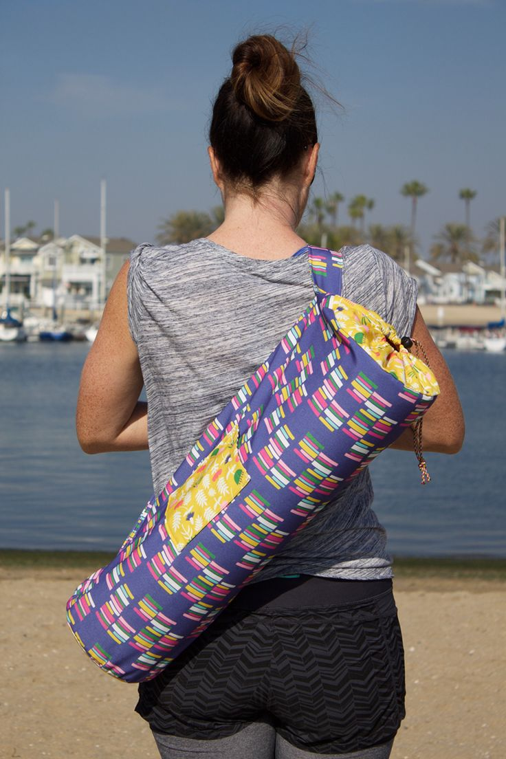 DIY yoga bag tutorial - and you can use fabric designs from my shop: http://www.spoonflower.com/profiles/patricia_shea