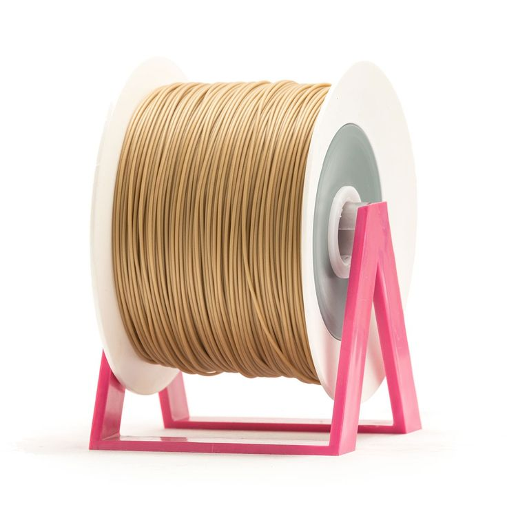 PLA Filament Color Gold EUMAKERS | Diameter 1,75mm | New spool is convertible into a coat hanger. Spool holder included | Weight: 1 Kg | www.monzamakers.com #3Dprinting #3Dprint #3Dfilament #3Dfilaments #Eumakers #MonzaMakers