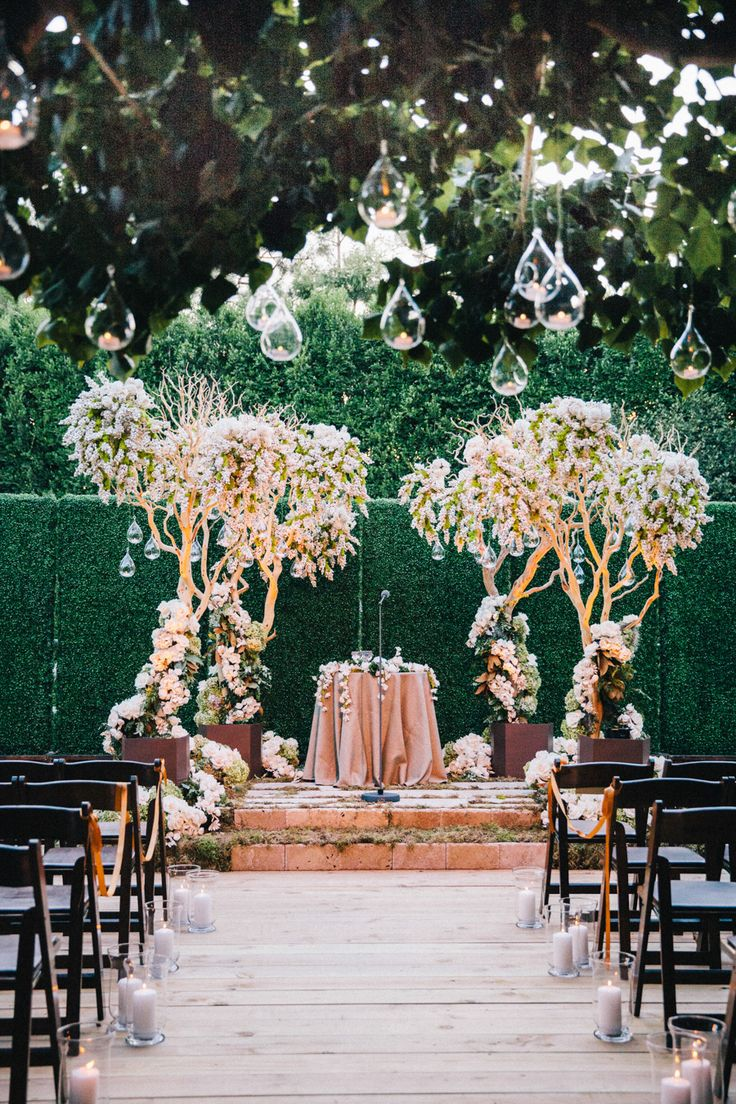 "What a way to say ""I do."" Photography: Docuvitae - docuvitae.com, Floral Design: Brad Austin - bradaustin.com Read More: http://www.stylemepretty.com/california-weddings/2014/05/16/elegant-bel-air-estate-wedding/"