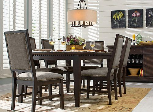 Simple In Its Presentation But Thoughtful Subtle Details The Landburn 7 Piece Dining Set Is A Classy Addition To Any Room