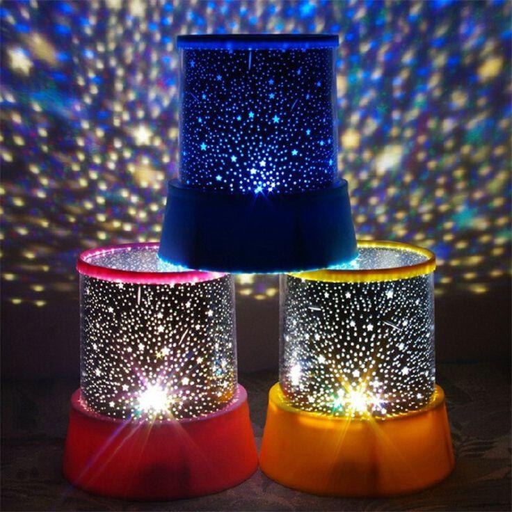 Planetario Night Lights Starry Sky Amo de la Estrella del LED Proyector Lámpara de Proyección para Los Niños Dormitorio Luminarias de Lámpara Del Sueño Del Bebé