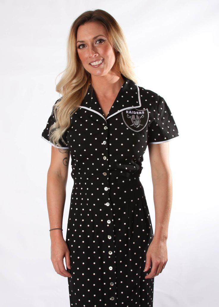 Raiders Patch on Vintage Dress