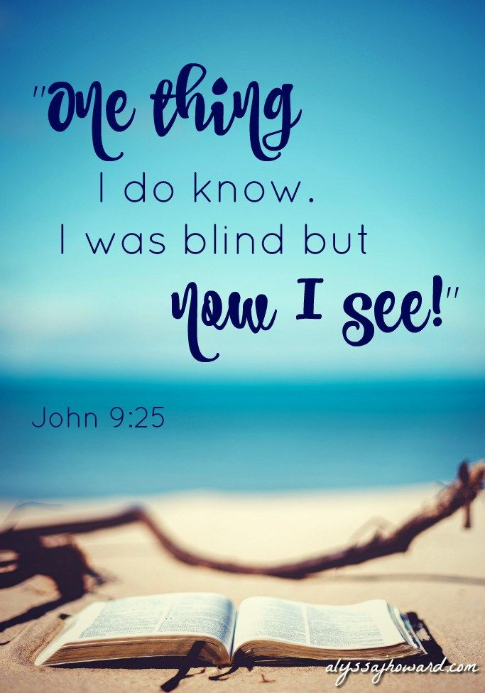It wasn't simply his physical sight that was restored that day; Jesus gave sight to his spiritual eyes as well.