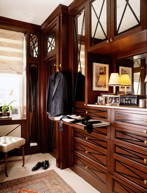 Insert to serve as dresser top in custom walk-in closet. This would eliminate the need for a big dresser in the master bedroom. Genius.
