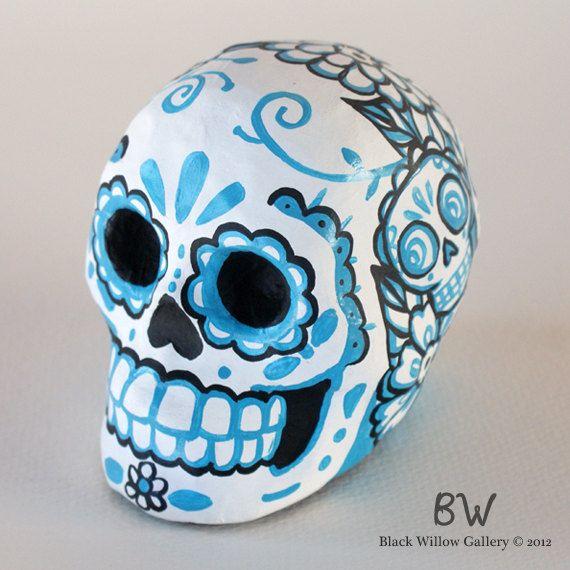 dia de los muertos paper mache skulls - Google Search