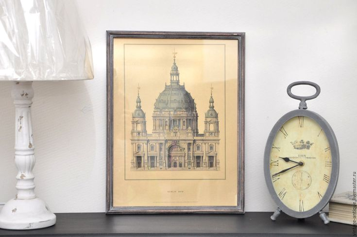 Купить Ретро постер BERLIN DOM, картина в стиле винтаж, декор ретро - бежевый