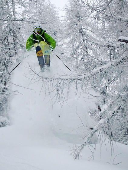 . skiing