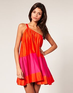 @Amy Wentz showed me this dress! WOW I love the color combo and one shoulder style!