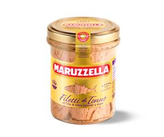 Tuna fillets in olive oil  Maruzzella tuna fillets are exclusively made with Yellowfin tuna. The meat is pale pink, lean, carefully selected and packed by hand. It is sold in ring-pull cans or glass jars. This latter format enhances the product to its maximum level, for refined results that are ideal for the more discerning consumer.