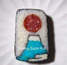 Mt. Fuji Roll Sushi / 富士山巻き寿司 たまちゃんのにっこり寿司
