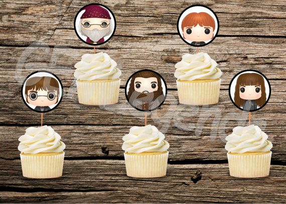DIGITAL DOWNLOAD! Print, cut and tape on toothpicks, you get awesome cupcake toppers!  YOU WILL RECEIVE ******************************* 1 PDF File in