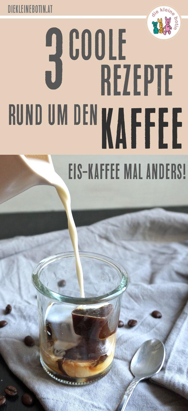 Die 3 coolsten Eis-Kaffee-Ideen! Mal anders! Diese Rezepte für Iced-Coffe sind meine Favoriten. Einfach und schnell zu machen und richtig erfrischend. Vegan & mit normaler Milch.