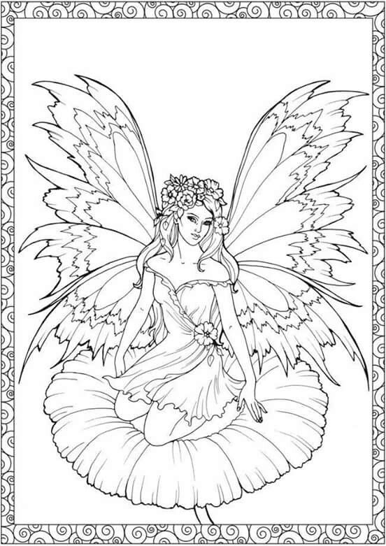 286 best Faries Angels coloring images on Pinterest Coloring