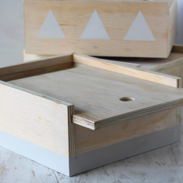 Wooden Storage Boxes handmade and painted by Burst + co.  Check it out on www.aburstoflife.com for lots more stunning home goods!
