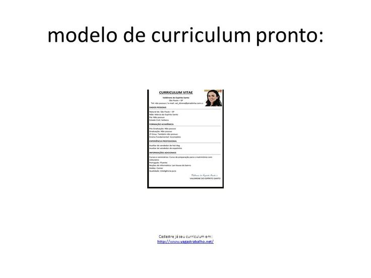 resultado de imagem para modelos de curriculum