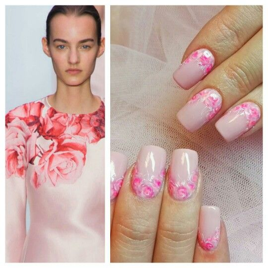 ideas... Nails by me #roses