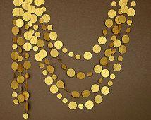 Guirnalda oro - Guirnalda oro viejo - Guirnalda dorada - Boda oro, Decoración fiesta, Guirnaldas de papel, Decoracion cumpleaños, Photocall