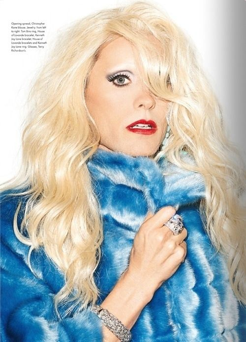 He models all the hot trends, like colored fur. | 8 Beautiful Photos Of Jared Leto In Drag