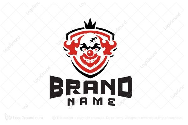 Exclusive Logo 28052 Clown King Logo Design Logo Logo Design