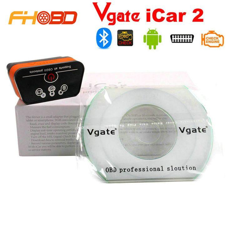 Asli Ancel iCar2 icar 2 Bluetooth ELM327 V1.5 OBD2 Code Reader Diagnostik Alat Scanner Untuk Android Gratis Pengiriman