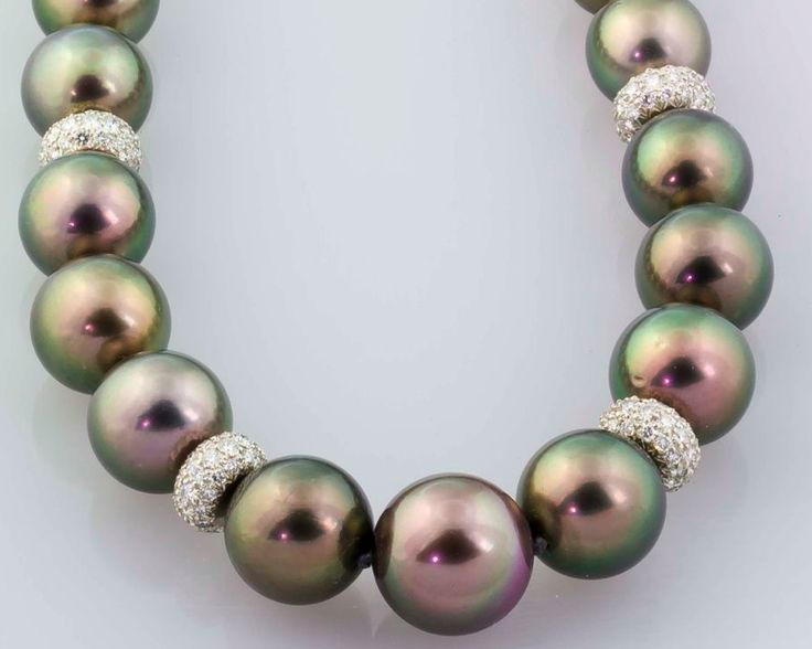 TIFFANY Tahitian Peacock Black Pearl Platinum Diamond Necklace....wow! If you're gonna dream, you may as well dream big.
