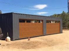 Shipping Container Garage Door industrial-garage-and-shed