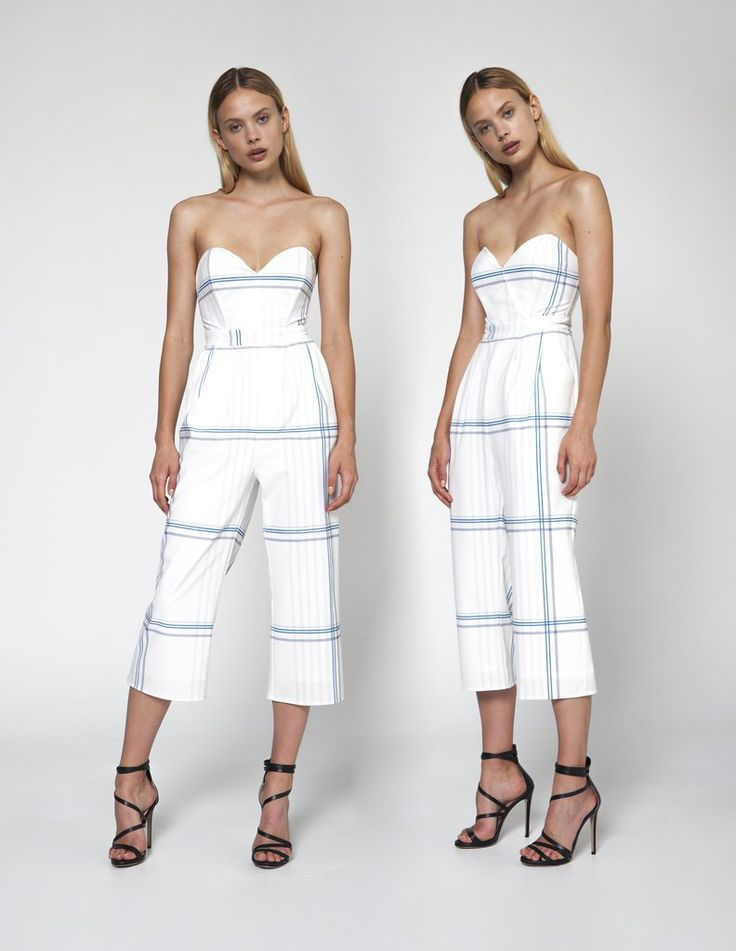 #ChloeJumpsuit - Checker White party invite? You'll be all set for those soirees in this romper that's prim  but more sexy than proper! Enjoy your summer with this comfy Jump Suit. #ootdmagazine  #ootdshare #fashionista  #fashionblogger  #fashionblog  #fashionable  #fashionstyle #NeroliAnonyme #Jumpsuit #Vacation