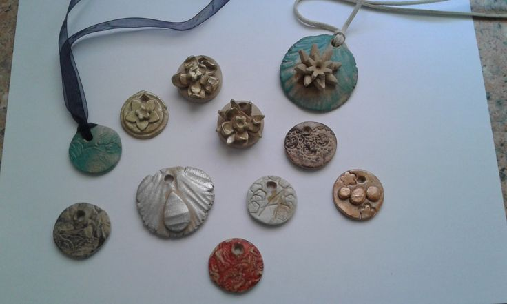 Clay pendants DIY