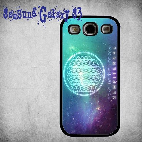 Bring Me The Horizon Cover Print On Hard Plastic Samsung Galaxy S3, Black Case