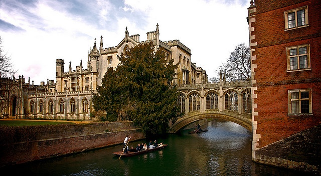 Bridge of Sighs (Cambridge, Cambridgeshire, England, UK)