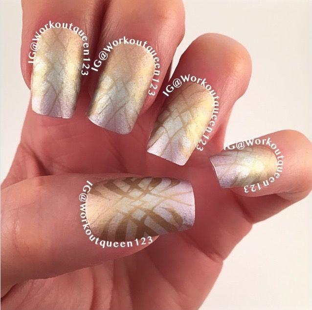 Gradient Mani, stamping nail art, Essie: Penny Talk, No place like chrome,Metals, mundodeunas Bronze-19 überchicbeauty plate üc4-03