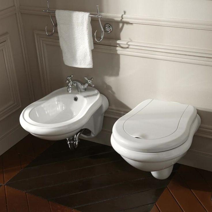 Beautiful Elegant High End Luxurious Bathroom Wall Mounted White Ceramic  Bidet With Overflow.